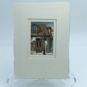 Original New Orleans watercolor with ink